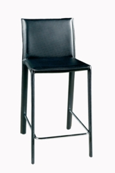 Brown Finish Leather Crawford Bar Stool - Set of 2 - click to enlarge