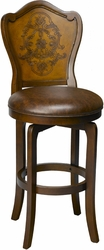 Hillsdale Lyon Etched Swivel Counter Bar Stools - click to enlarge
