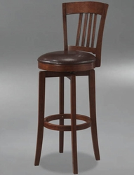 Hillsdale Canton Swivel Bar Stool with Vinyl Seat in Brown - 4166-833 - click to enlarge