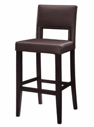 "Linon Vega 30"" Espresso Frame Counter Stool with PVC Fabric - click to enlarge"