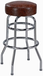 Double Ring Heavy Duty Backless Bar Stool - click to enlarge
