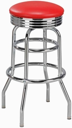 Retro Style Double Ring Diner Stool - click to enlarge