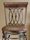 Hillsdale Montello Bar Stools with Faux Leather - click to enlarge