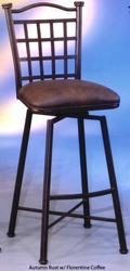 Pastel Bay Point Swivel Barstool with Suede Upholstery - click to enlarge