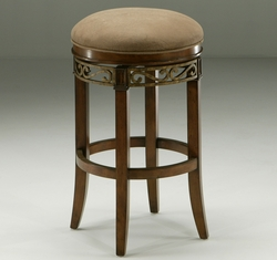 Pastel Carmel Backless Barstool in Murano Accent - click to enlarge