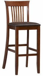 Linon Triena Craftsman Dark Cherry Bar Stool - 01858DKCHY-01-KD-U - click to enlarge