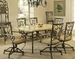 Hillsdale Brookside 7-Piece Dining Set with Fossil Stone Table - 4815DTBCOVC7