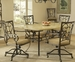 Hillsdale Brookside Rectangle Table with Chairs Set - 4815DTBCOVC