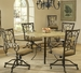 Hillsdale Brookside Dining Table with 4 Chairs - 4815DTRNBCOVC