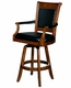 Hillsdale Kingston Game Swivel Leather Back Barstool - click to enlarge