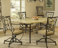 Hillsdale Brookside Rectangle Table with Chairs Set - 4815DTBCOVC - click to enlarge
