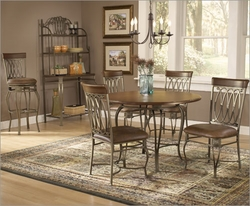 Hillsdale 415 Wood Series - Montello Dining Set with Round Dining Table - click to enlarge