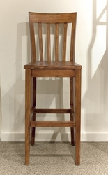 Riverside Harmony Bar Stool in Antique Oak - Set of Two - click to enlarge