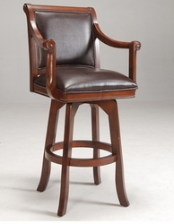 Hillsdale Palm Springs Swivel Bar Stool with Brown Cherry Finish - 4185-830 - click to enlarge