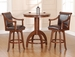 Hillsdale Palm Springs Bar Height Table & Swivel Stools - Set of 3