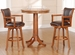 Hillsdale Park View Bar Height Table & Swivel Stools - Set of 3