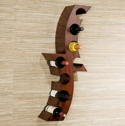 Holly & Martin Avila Handpainted Rust Wall Mount Wine Rack - HZ1010 - click to enlarge