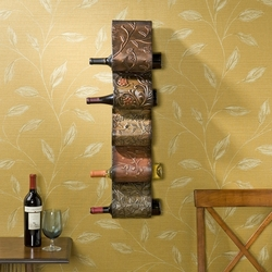 Holly & Martin Hand Painted Salinas Wall Mount Wine Rack - click to enlarge