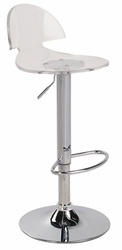 Lumisource Venti Barstool with Acrylic Seat - click to enlarge