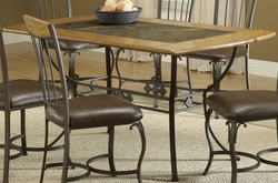 Hillsdale Lakeview Dining Table with Slate Shelf - click to enlarge