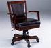 Rich Cherry Hillsdale Ambassador Game Chair with Vinyl Seat & Casters - 6124-801