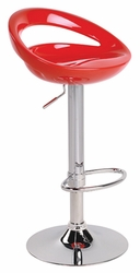 Lumisource Swizzle Red Bar Stool with Foot Rest - click to enlarge