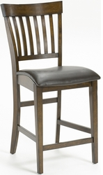 Hillsdale Arbor Hill Non-Swivel Counter Stools in Chestnut - Set Of 2 - 4232-822 - click to enlarge