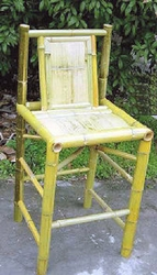 "Hand Crafted Tahiti Natural Bar Stool - 30"" Seat Height - click to enlarge"