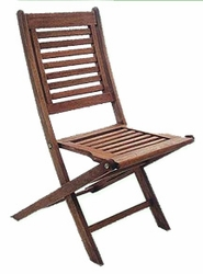 Trip Trap Folding Patio Chair with Contoured Seat- Set of 2 - click to enlarge