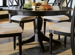 American Drew Camden Black Round Table - click to enlarge