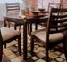 American Drew Tribecca Leg Table with Root Beer Finish