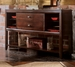 American Drew Tribecca Sideboard with Glass Shelves