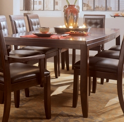 American Drew Tribecca Root Beer Dining Table with Butterfly Leaf - click to enlarge