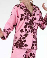 pink exotic flannel pjs
