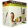 Wolfgang Puck 6 Piece Cutlery w/ Wooden Block Knife Set