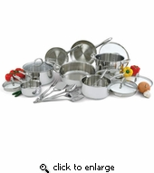 Wolfgang Puck Stainless Steel Cookware 18 Pc. Set