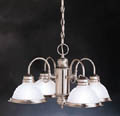 Kichler Lighting 1648NI Chandelier/Dinette Transitional Chandelier, Brushed Nickel
