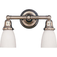 Hudson Valley 862 Historic Two Light Bath Vanity Fixture with Glass Option