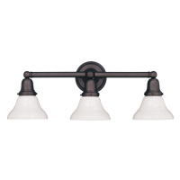 Hudson Valley 863 Historic Three Light Bath Vanity Fixture with Glass Option