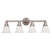Hudson Valley 864 Historic Four Light Bath Vanity Fixture with Glass Option