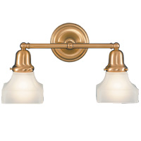 Hudson Valley 582 Edison Two Light Bath Vanity with Glass Option