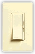 Lutron DVW-603PH Diva Duo 3-Way 600 Watt Dimmer & Claro CW-1 Screwless Wallplate