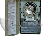 TORK 1101 TIME CLOCK: 24-HOUR, 120V, SPST, INDOOR METAL ENCLOSURE