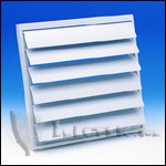 "Fantech VK35 Louvered Shutter Plastic with Tailpiece 14"" Square Opening (use with 12"" Round Duct)"
