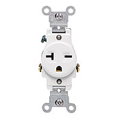 Leviton 5821 Commercial Grade Single Receptacle, 20 Amp