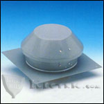 Fantech RE6 Roof Exhauster Attic Ventilation, Base for Installation without Curb 227 CFM