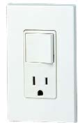 Leviton 5625 Decora Receptacle & Single-Pole Switch