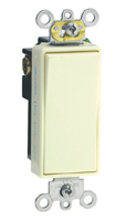 Leviton 5691-2 COMMERCIAL GRADE Decora Single Pole Switch, 15 Amp