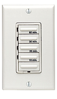 Leviton 6560M Decora Four Preset 10-20-30-60 Minutes Electronic Timer, Incandescent ONLY