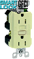 Leviton 8598 15 Amp GFCI Receptacle with Indicator Light